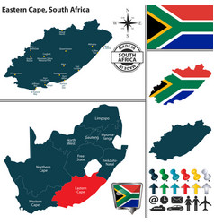 map of eastern cape south africa vector image vector image