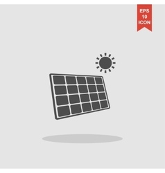 Solar energy panel Modern design flat style vector image vector image