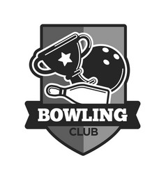 Bowling club icon template vector