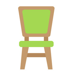 chair flat icon furniture and interior vector image vector image