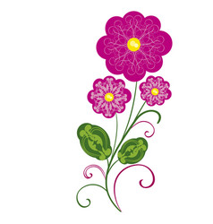 flowers flourishes 2 vector image vector image