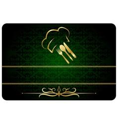 Green decorative restaurant man card vector image vector image