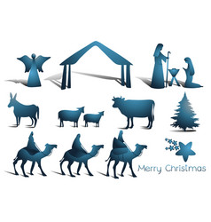 nativity scene elements vector image vector image