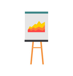 Projection screen with a graph icon vector