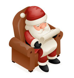 sit armchair read gift list cute isometric 3d vector image vector image