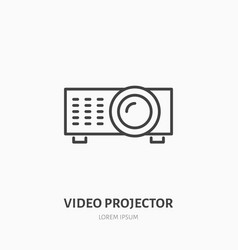 video projector flat line icon multimedia vector image vector image