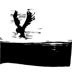 Bird in a Sky vector image vector image