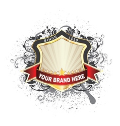 label with grunge vector image vector image
