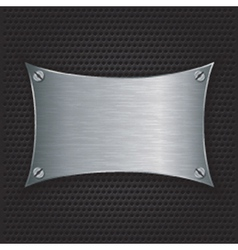 Metal texture plate with screws vector image