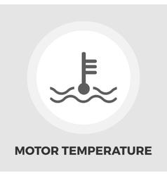Motor temperature flat icon vector image vector image