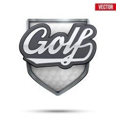 Premium symbol of Golf label vector image