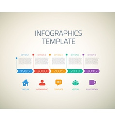 Web infographic timeline arrows template layout vector