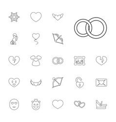 22 love icons vector