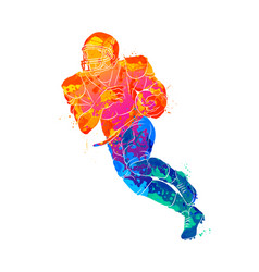 abstract running american football player from vector image