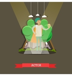 actor playing at the vector image