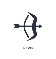 Artemis icon on white background simple element vector