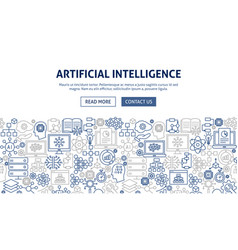 Artificial intelligence banner design vector