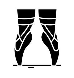 ballet seasons black icon concept vector image