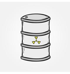 Barrel with dangerous fluid vector