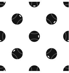 baseball ball pattern seamless black vector image
