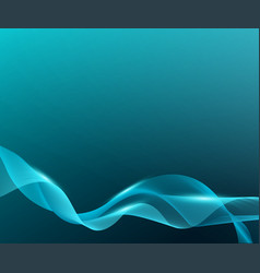 Beautiful and elegant smooth wave on blue vector