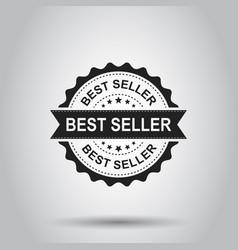 Best seller grunge rubber stamp on white vector