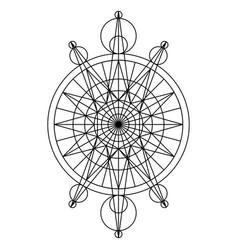 black spiritual mystical line symbol vector image