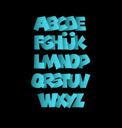blue bold alphabet alphabet vector image