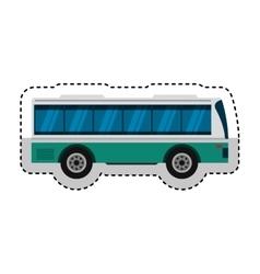 Bus transport public icon vector