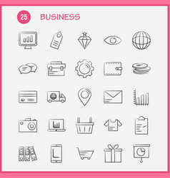 Business hand drawn icon for web print and mobile vector