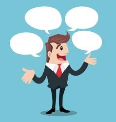 Business man talk vector image