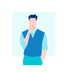 businessman thinking - flat design style vector image