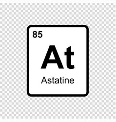 chemical element astatine vector image
