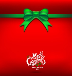 Christmas Green gift bow vector