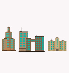city of skyscrapers building an vector image