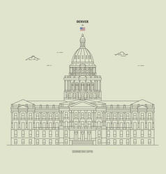 colorado state capitol in denver usa landmark vector image