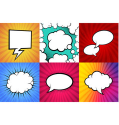 colorful comic book backgroundblank white speech vector image