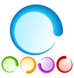 Colorful preloader or buffer shapes progress vector