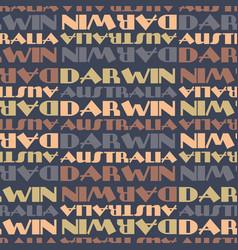 Darwin australia seamless pattern vector