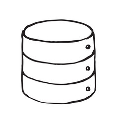 database storage doodle icon vector image