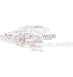 Desktop word cloud concept vector