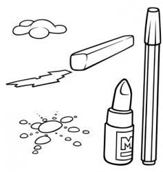 drawing set vector image