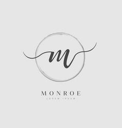 elegant initial letter type m logo vector image
