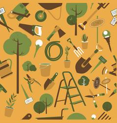 garden tools seamless pattern vector image