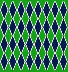 Green and blue argyle harlequin seamless pattern vector