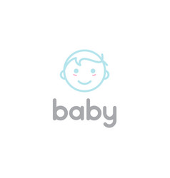 Happy baby toddler babies line outline line art vector