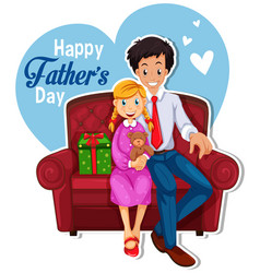 happy fathers day logo vector image