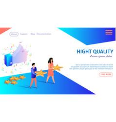 high quality horizontal banner customers vector image
