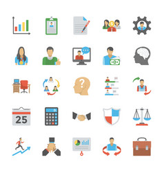 human resource flat icon pack vector image
