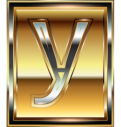 Ingot Font Letter y vector